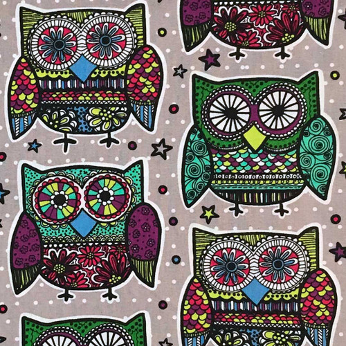 Kaleidoscope Owls Microwave Heating Pad
