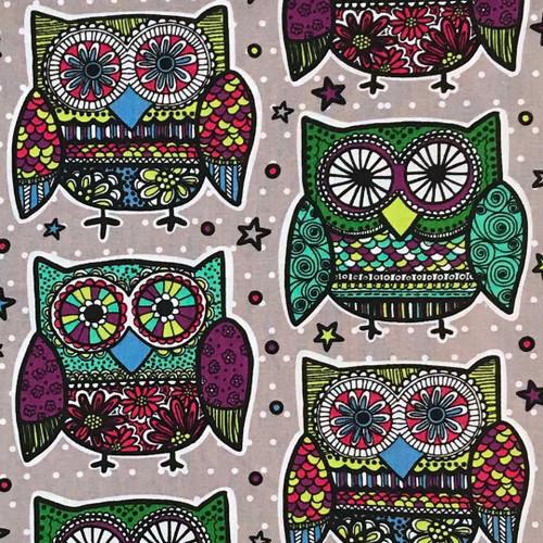 Kaleidoscope Owls Microwave Heating Pad