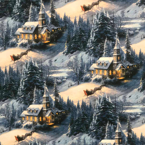 Country Church surrounded by snow Outer Cover for your Microwave Corn Bag Heating Pad