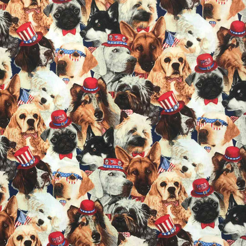 Patriotic Dogs to honor the American Flag Microwave Corn Bag Heating Pad
