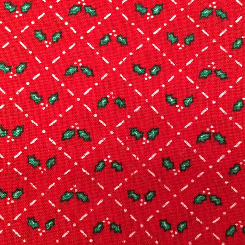 Festive Red and Green Holly Pattern Outer Cover for your Microwave Corn Bag Heating Pad