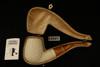 Autograph Series Basket Weave Block Meerschaum Pipe with custom case 12541