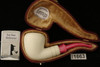IMP Meerschaum Pipe - Pink - Hand Carved in a fitted CASE i1663