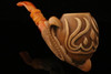 Flames in Eagle's Claw  Hand Carved Block Meerschaum Pipe in CASE 9494