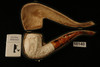 Yin Yang Hand Carved Block Meerschaum Pipe in a custom case 10140