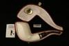 IMP Meerschaum Pipe - Cobra - Hand Carved with custom case i1889