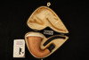Calabash Meerschaum Pipe - Mahogany Wood comes with custom pocket case 12470