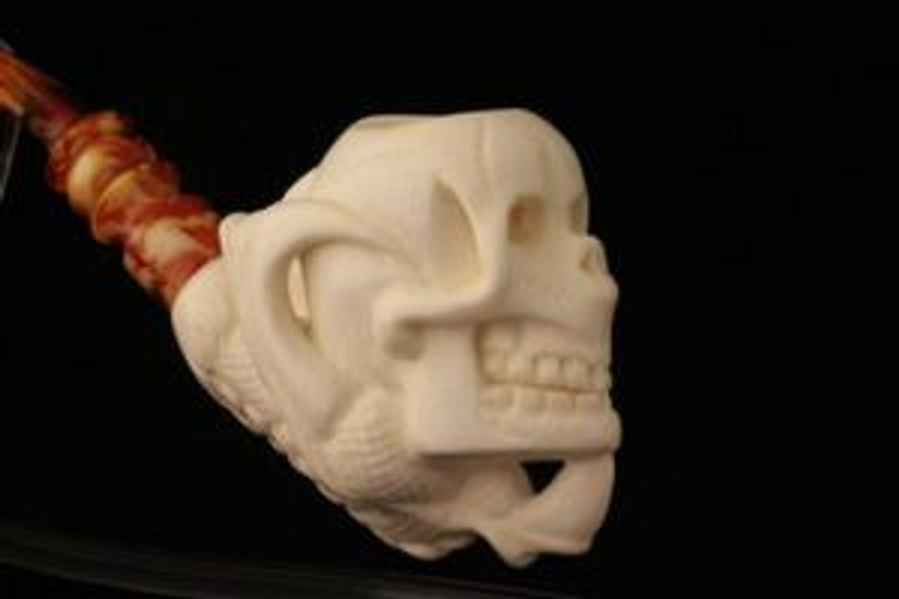 Meerschaum Dragon Claw with Skull Pipe
