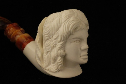 LADY Meerschaum Smoking Pipe by I. BAGLAN 1761 w/CASE