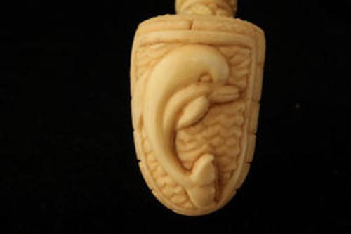 DOLPHIN Meerschaum Tobacco Pipe by MESUT 1865 W/CASE