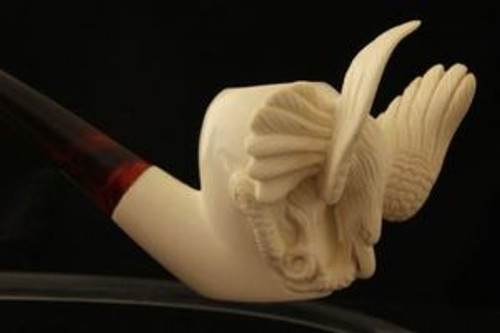 EAGLE & SNAKE by R. KARACA  Meerschaum Pipe +Case 2290