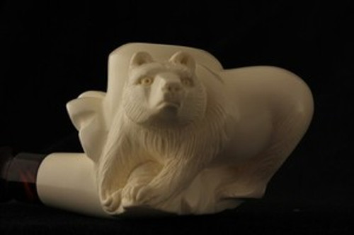 Raccoon Hand Made by R KARACA  Meerschaum Pipe in a fitted Case 3623 pipa NEW