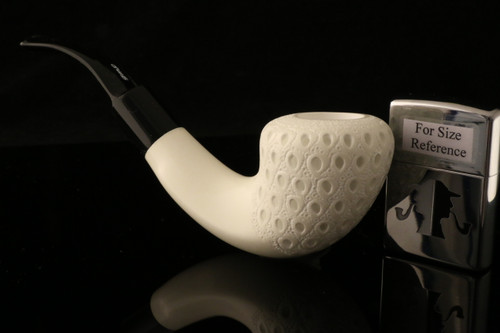 W1037 IMP Meerschaum Pipe - Hand Carved in a fitted CASE