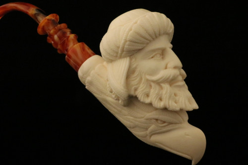 Sultan and Eagle Block Meerschaum Pipe by I. Baglan in case 9017