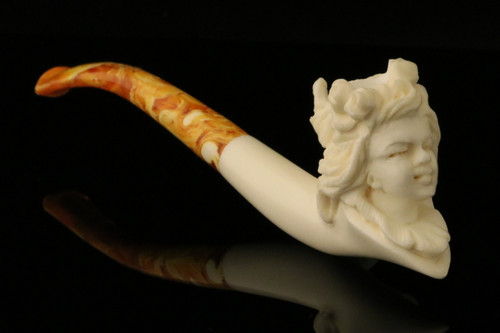 Princess  BLOCK Meerschaum Cigarette Holder Pipe by Cevher in CASE 9126