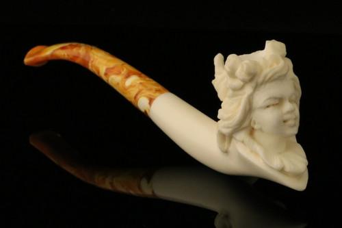 Princess  BLOCK Meerschaum Cigarette Holder Pipe by Cevher in CASE 9126