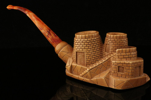 The Famous Castle Meerschaum Pipe of  I. Baglan in chest case 9479