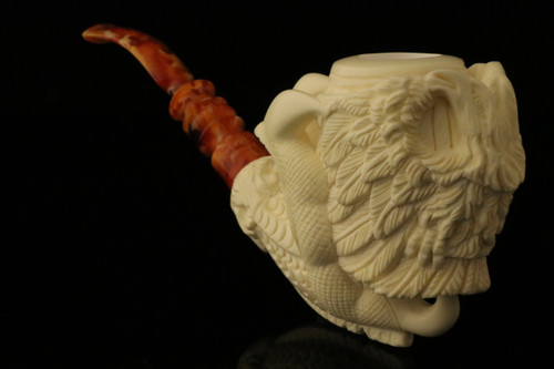 Eagle's Claw Meerschaum Pipe Carved by Emin Brothers with case 9784