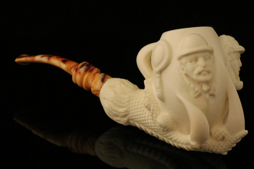 Sherlock - Dr Watson Eagle's Claw Block Meerschaum Pipe with CASE 10258
