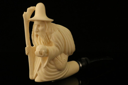 Wizard Block Meerschaum Pipe by Tekin with a fitted case 10283