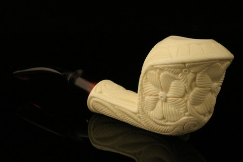 Cobra Meerschaum Pipe Carved by Emin Brothers in case 10358