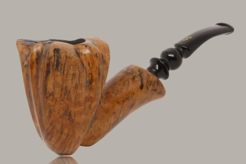 Nording - Black Grain #3 Freehand Briar Smoking Pipe with pouch
