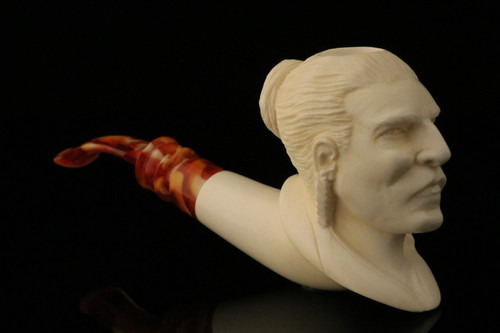 Big Chief  Meerschaum Pipe by Kenan with custom CASE 11465