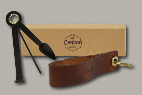 Chacom - Leather Pipe Stand and Pipe Tool