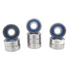 TRB RC 6x16x5mm Precision Ball Bearings ABEC 3 Blue Rubber Seals (10)