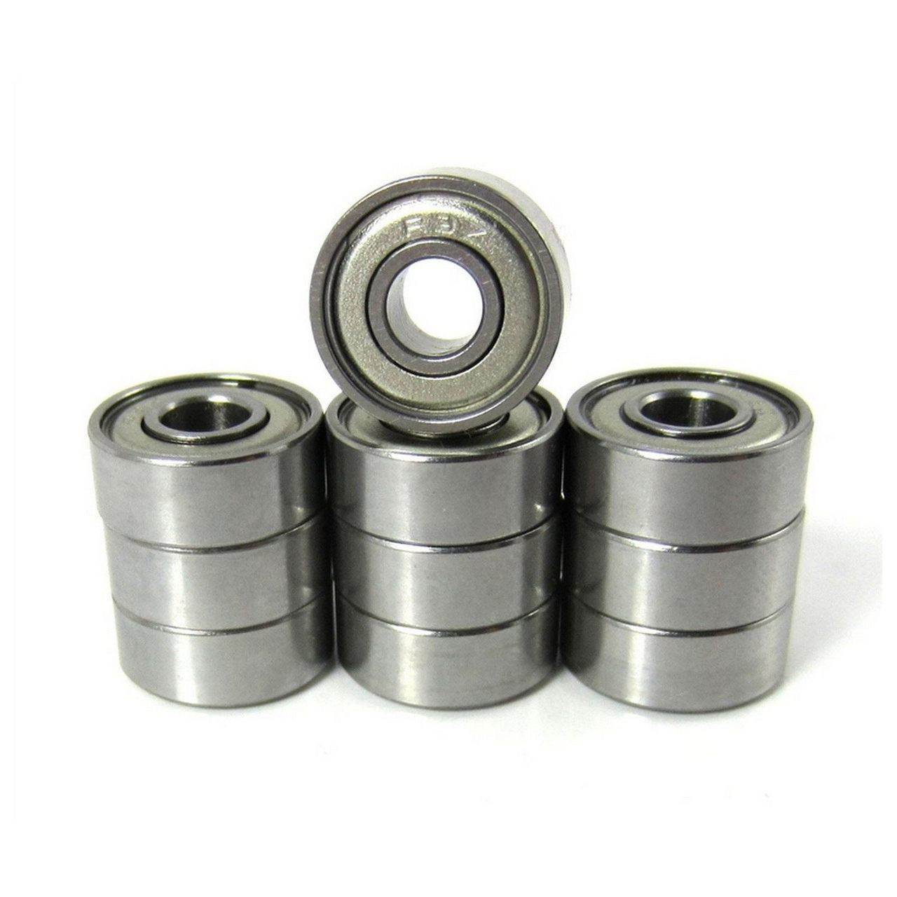 3/16x1/2x49/250 Precision Ceramic Ball Bearings Metal Shields (10)