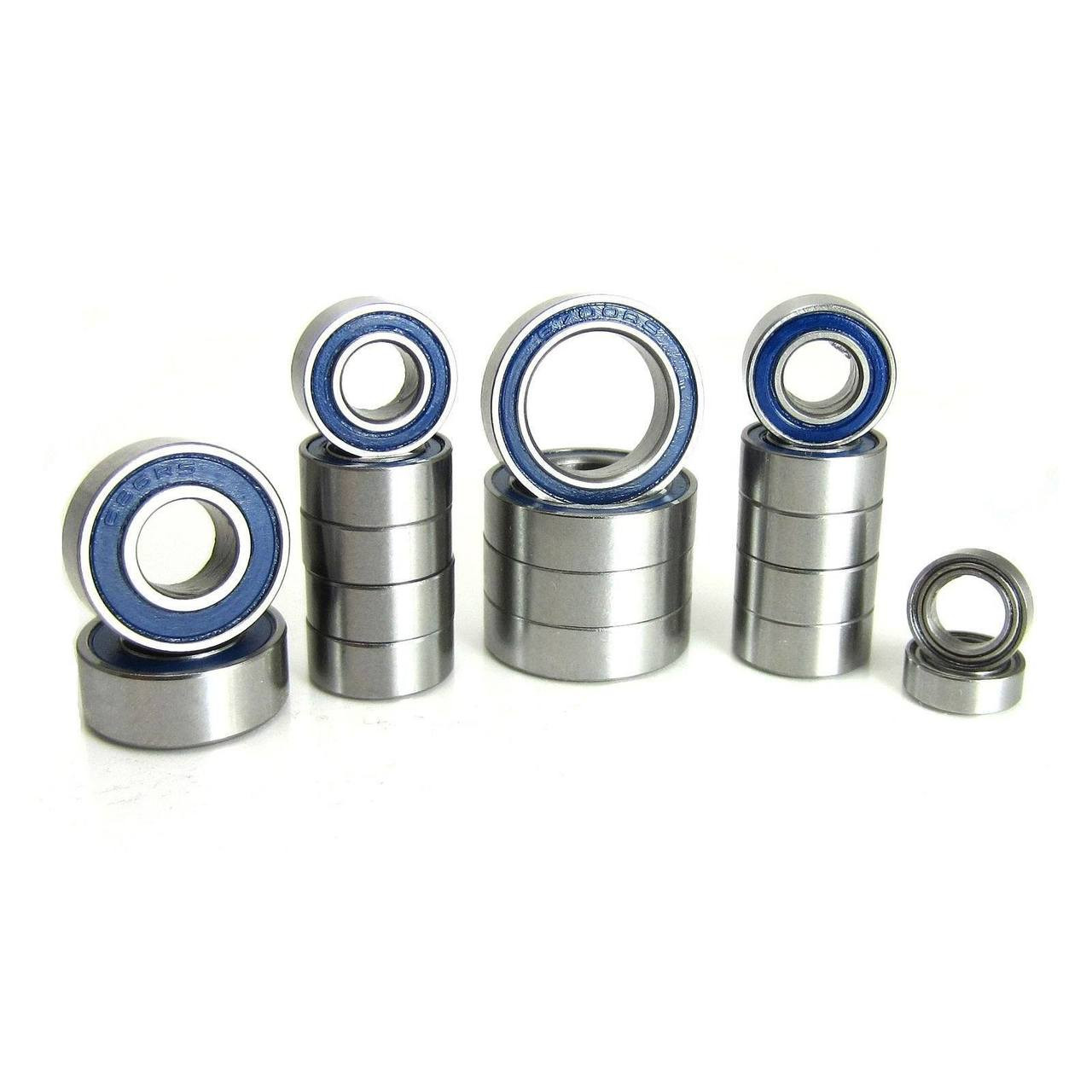 TRB RC Precision Ball Bearing Kit (18) Rubber Sealed Blue Associated T5M B5M