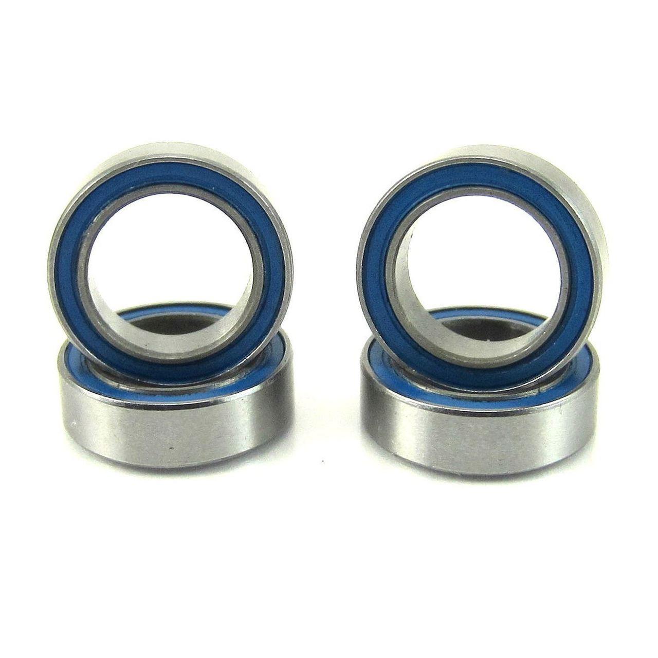 TRB RC 8x12x3.5mm Precision Ball Bearings ABEC 3 BLU Rubber Sealed (4)