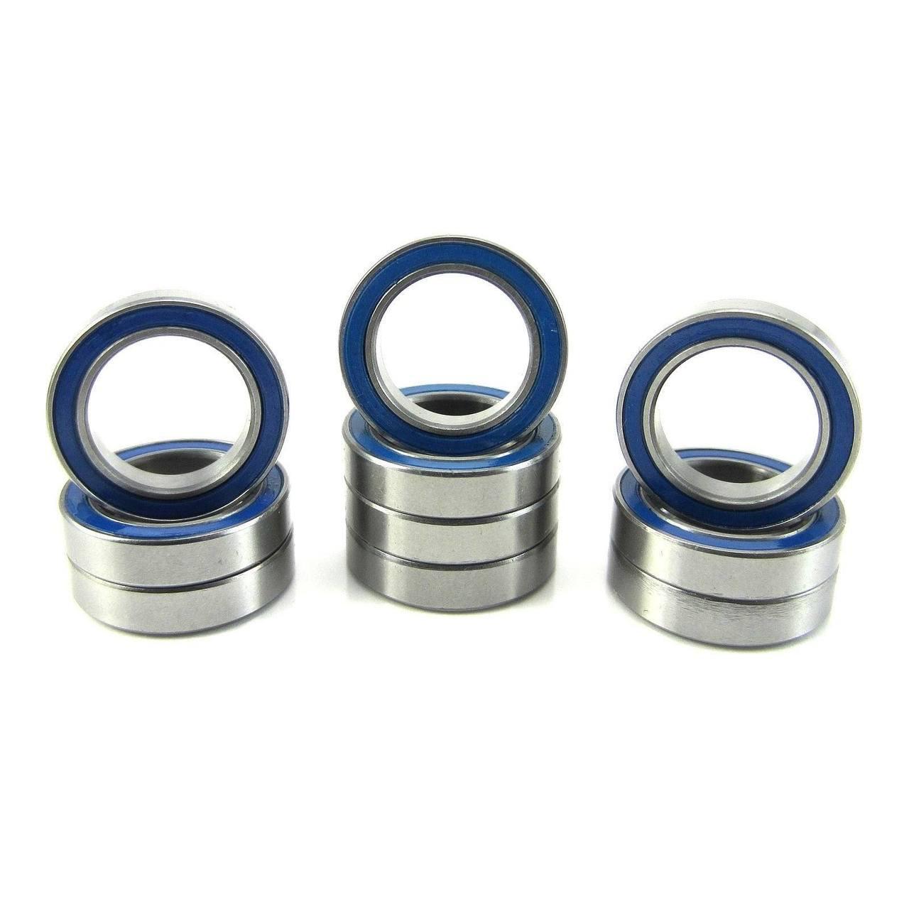 TRB RC 12x18x4mm Precision Ball Bearings ABEC 3 Rubber Sealed BLU (10)