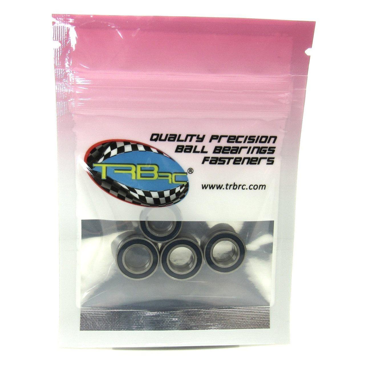 TRB RC 8x14x4mm Precision Ball Bearings ABEC 3 Rubber Sealed BLU (4)