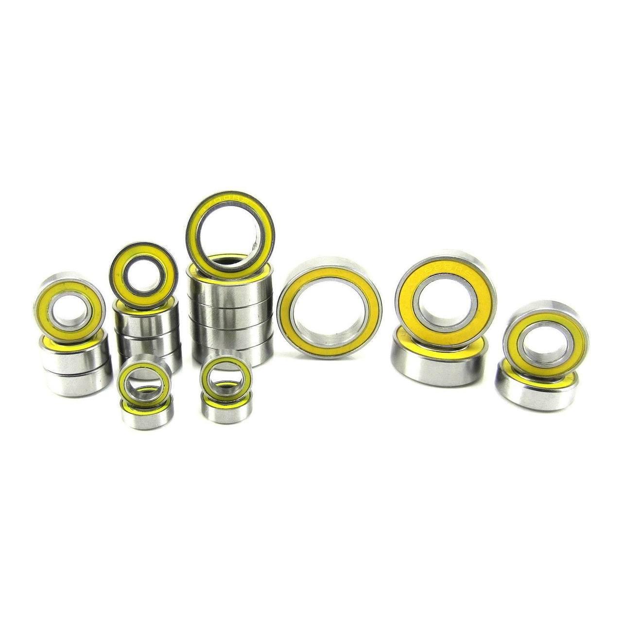 TRB RC Precision Ball Bearing Kit YEL (21) Rubber Sealed Traxxas Slash 4x4 VXL