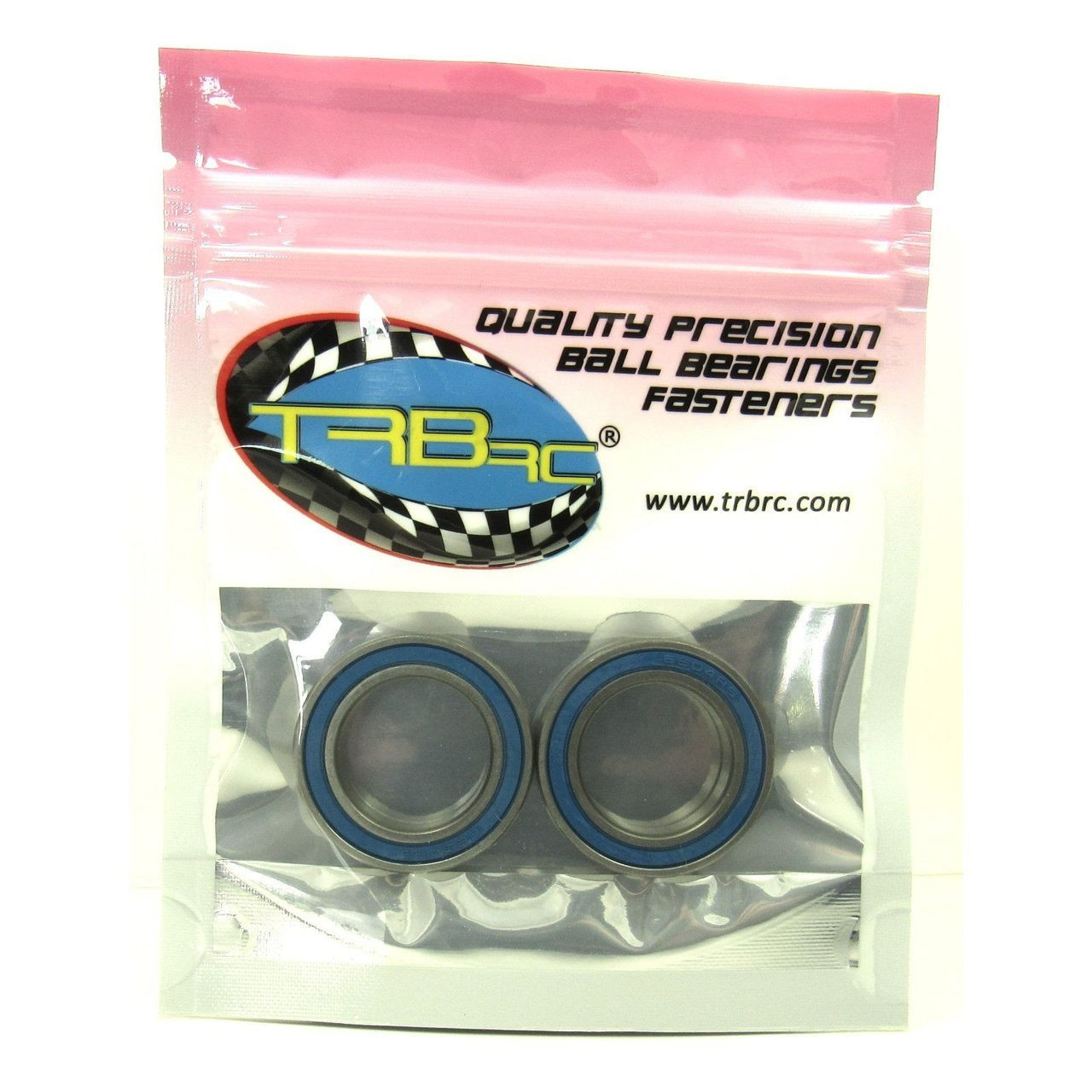 TRB RC 20x32x7mm Precision Ball Bearings ABEC 3 BLU Rubber Seals (2)