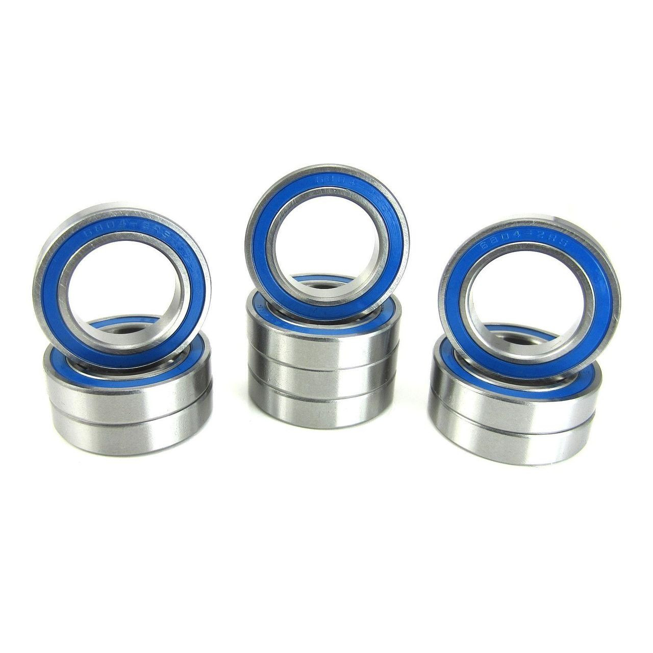 TRB RC 20x32x7mm Precision Ball Bearings ABEC 3 BLU Rubber Seals (10)