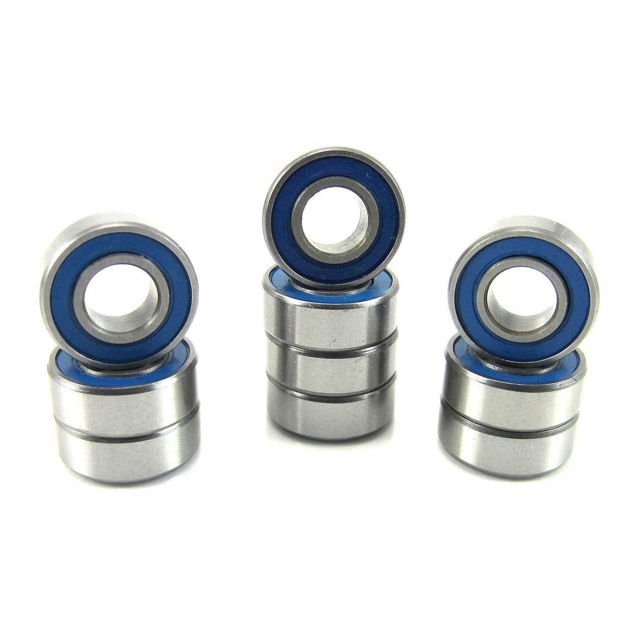 TRB RC 5x11x4mm Precision Ball Bearings Rubber Sealed BLU (10)
