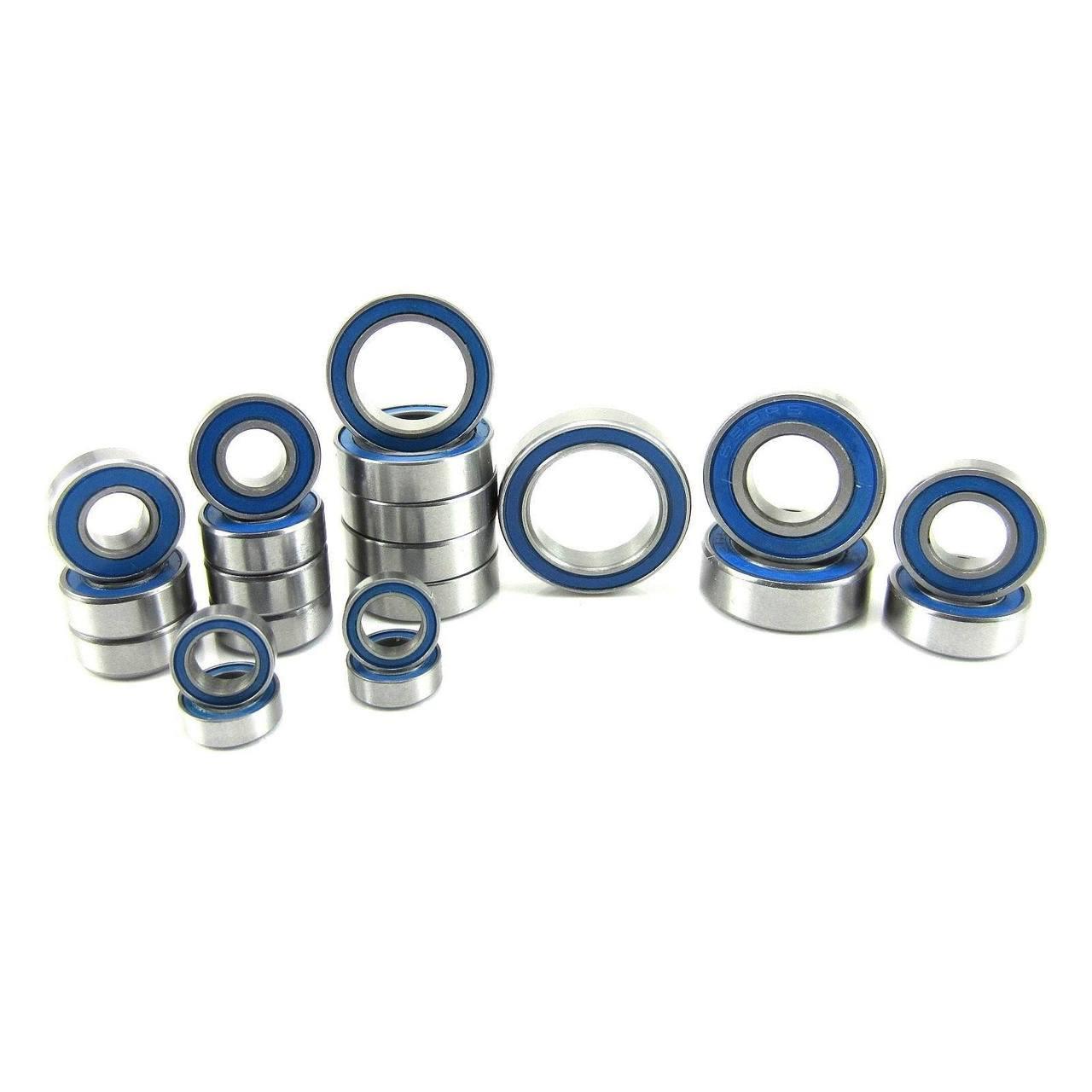TRB RC Precision Ball Bearing Kit BLU (21) Rubber Sealed Traxxas Slash 4x4 VXL
