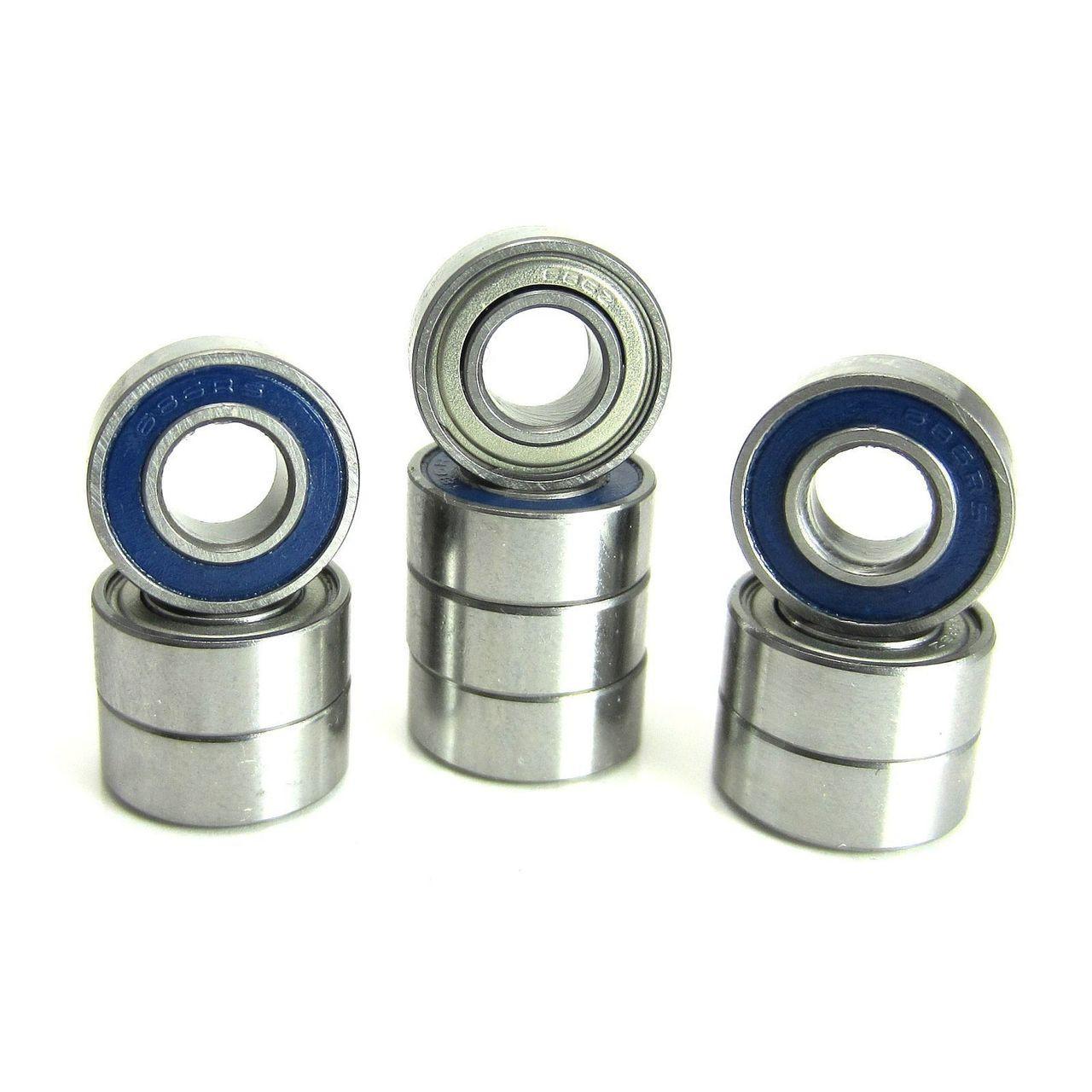 TRB RC 6x13x5mm Precision Ball Bearings ABEC 5 Hybrid Seals BLU (10)