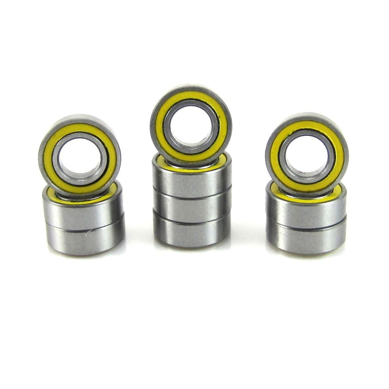 TRB RC 3/16x3/8x1/8 Precision Ball Bearings ABEC 3 YEL Rubber Sealed (10)