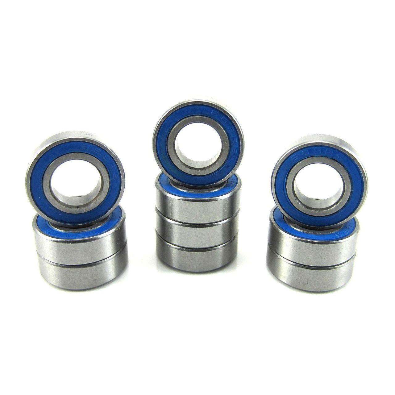 TRB RC 8x16x5mm Precision Ball Bearings ABEC 3 Rubber Sealed BLU (10)