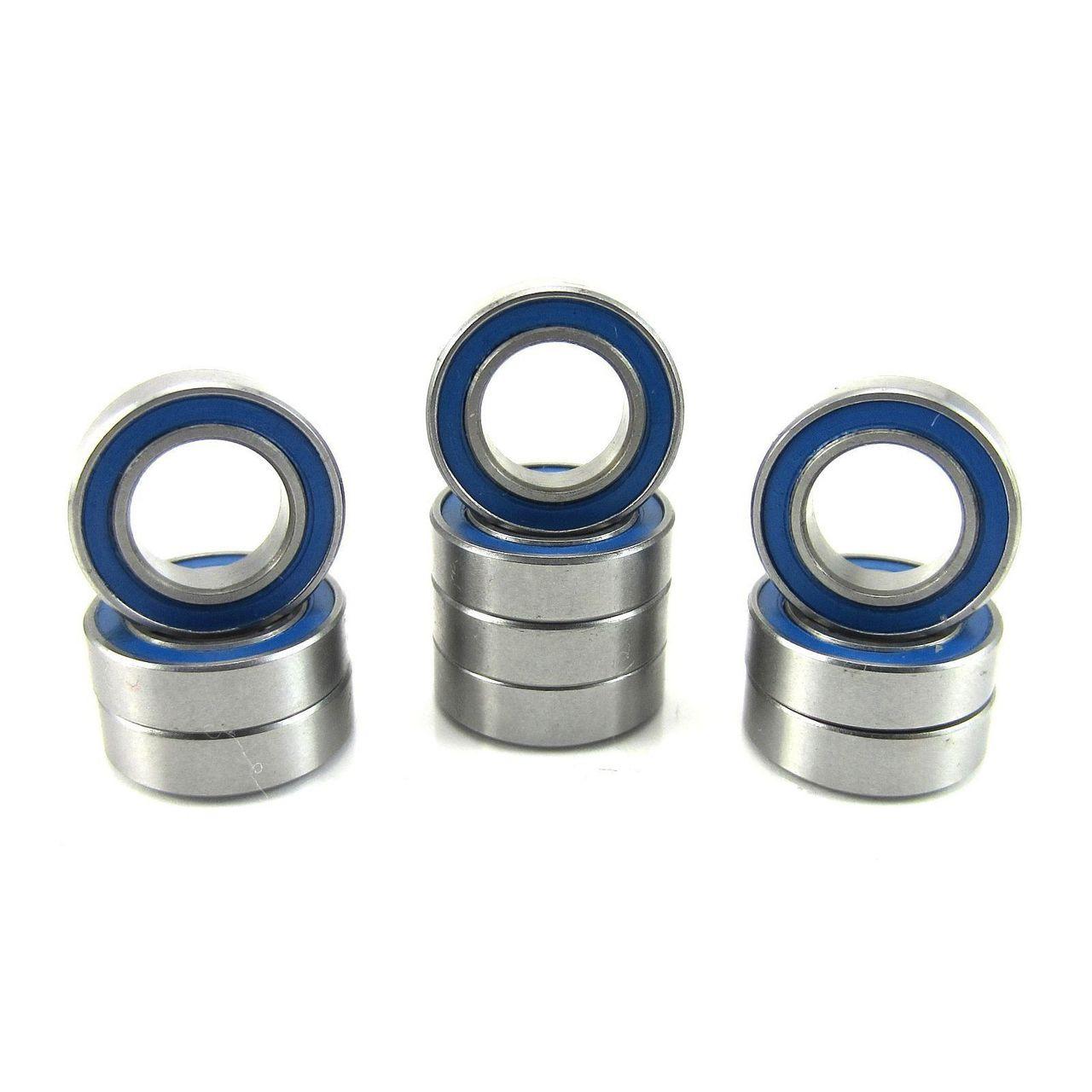 TRB RC 8x14x4mm Precision Ball Bearings ABEC 3 Rubber Sealed BLU (10)