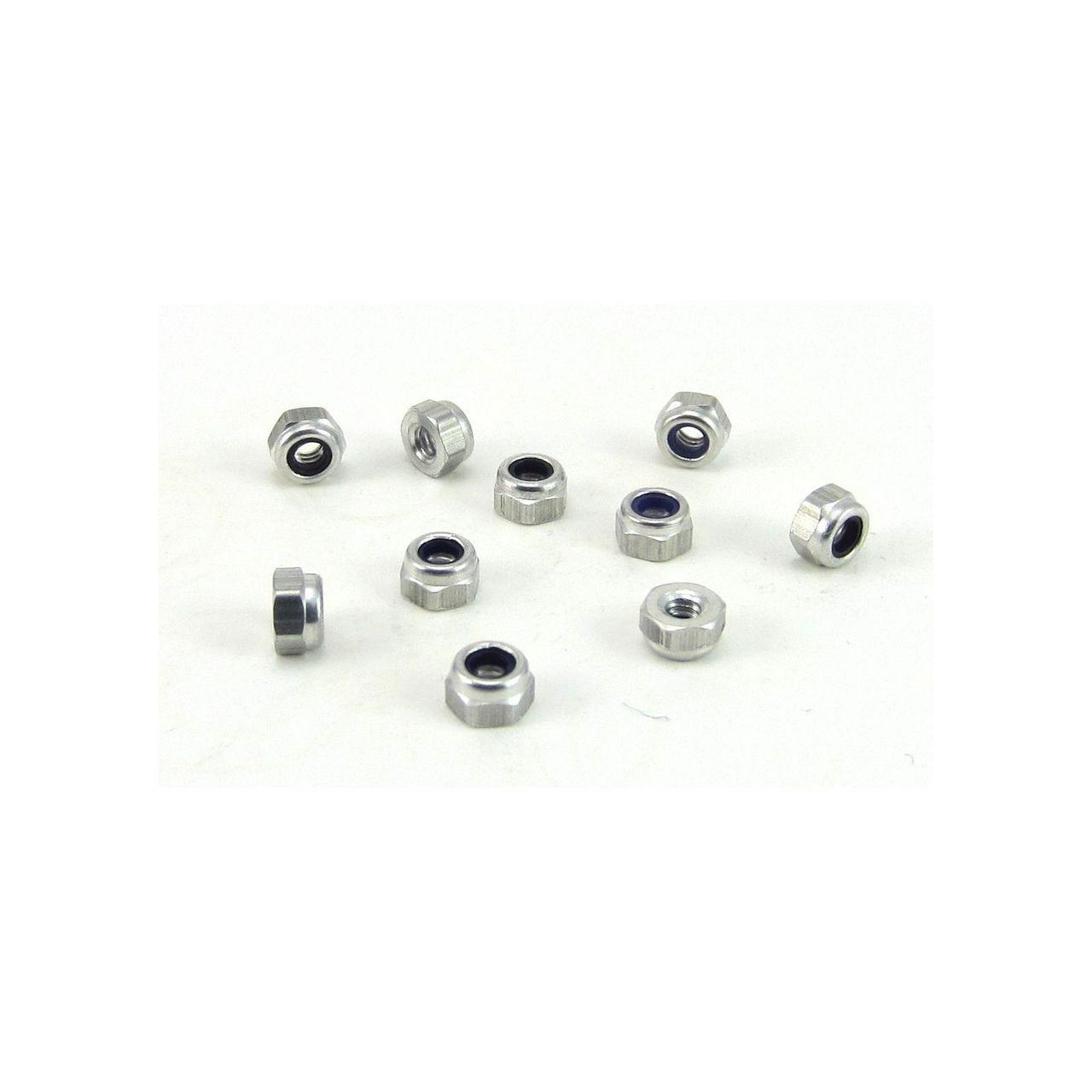 TRB RC 2-56 Aluminum Hex Locknut Nylon Insert 5/32 Hex (10)