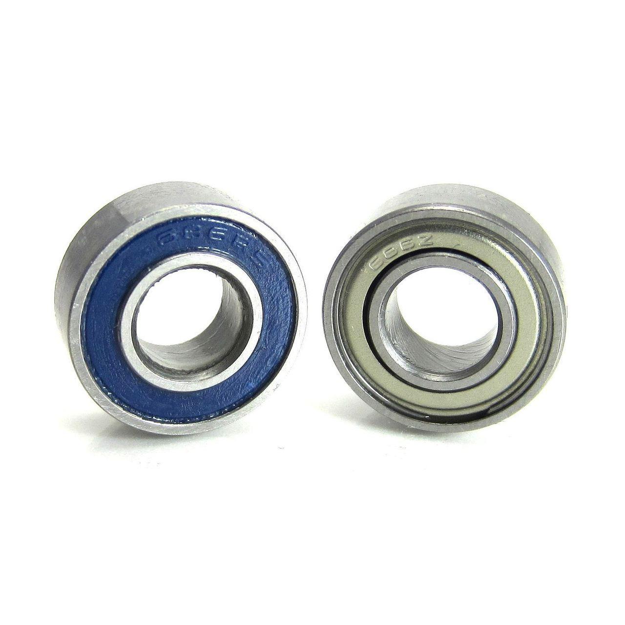 TRB RC 6x13x5mm Precision Ball Bearings ABEC 5 Hybrid Seals BLU (2)
