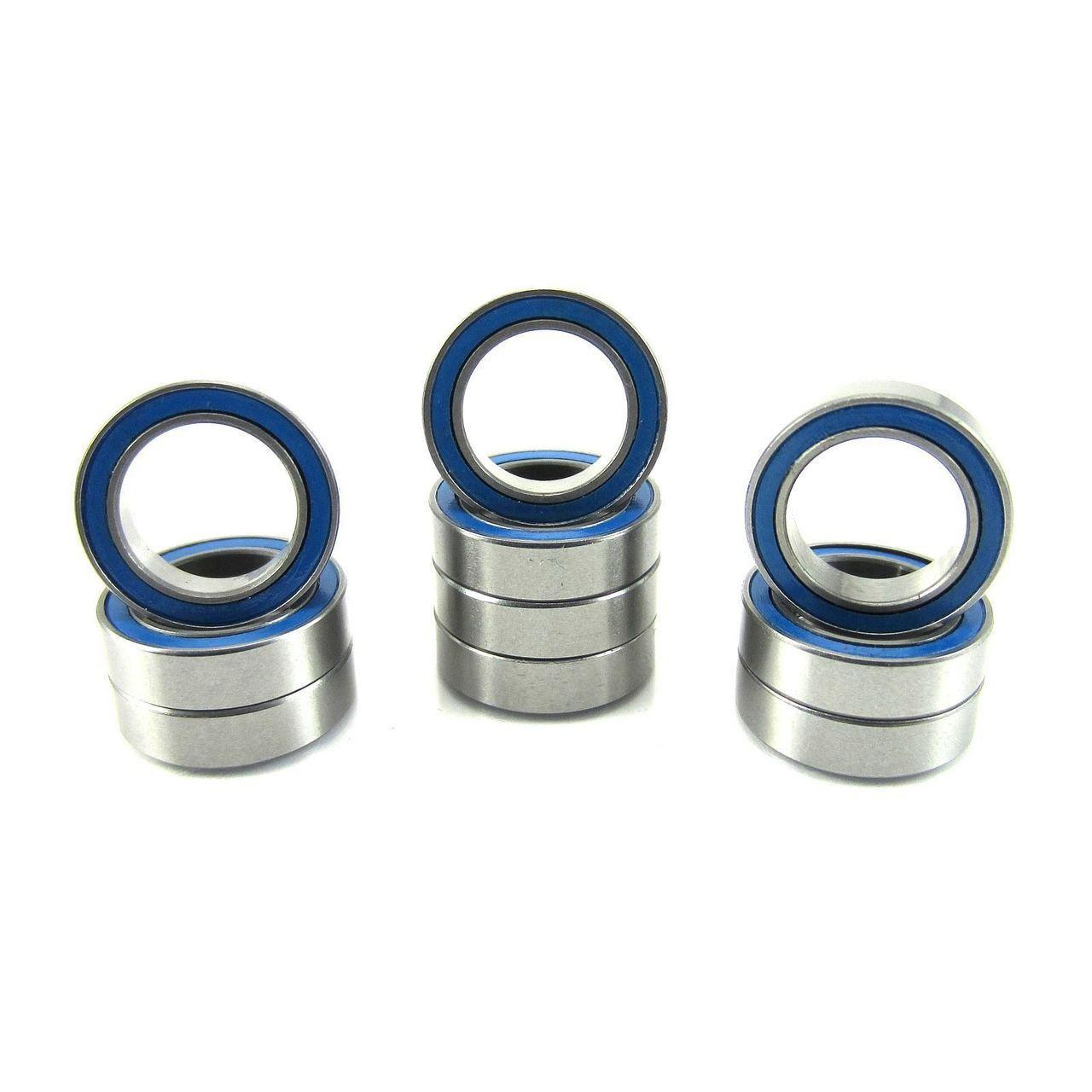 TRB RC 10x15x4mm Precision Ball Bearings ABEC 3 Rubber Sealed BLU (10)