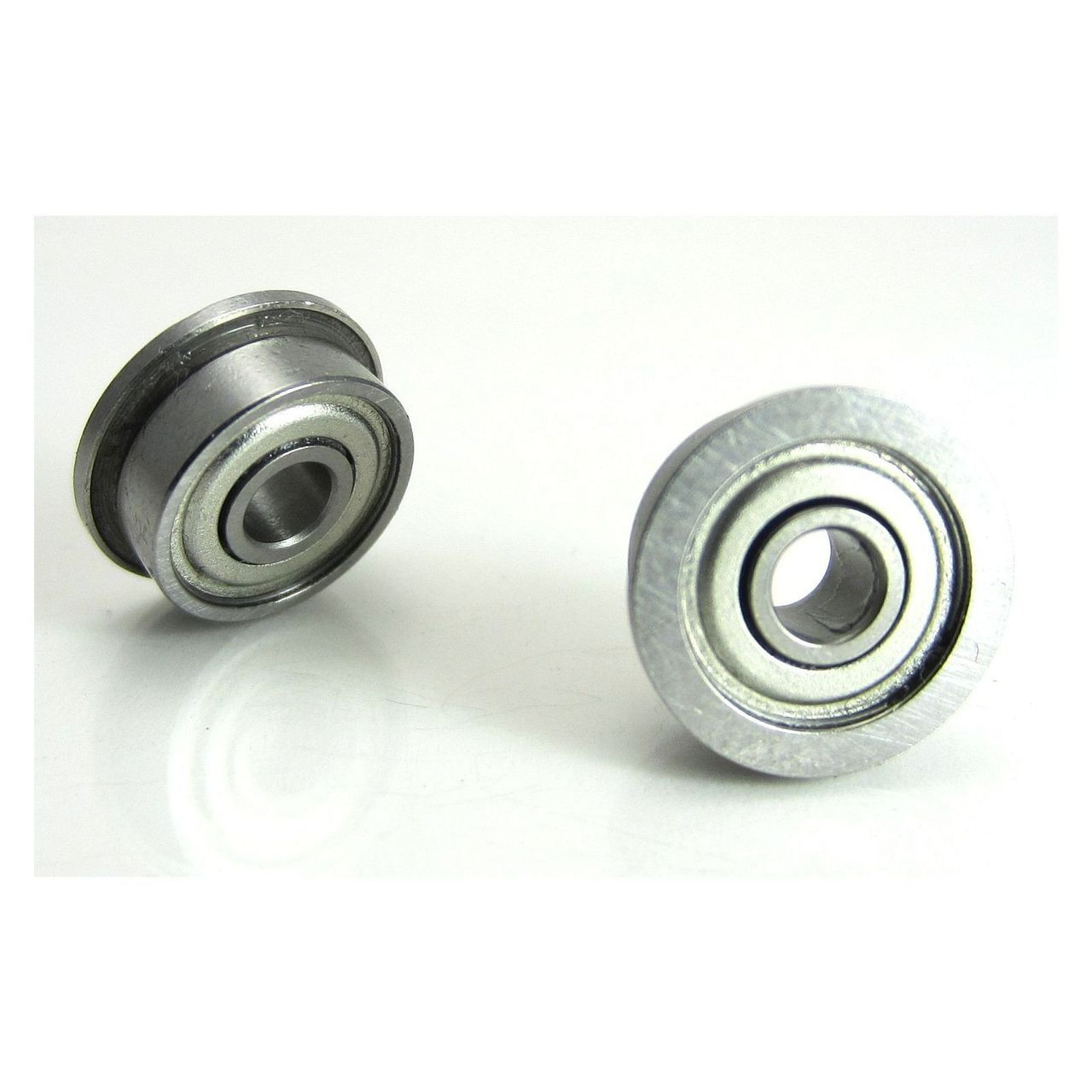 """TRB RC 1/8x3/8x5/32"""" Flanged Precision Brushless Motor Ball Bearings (2) Chrome Steel"""