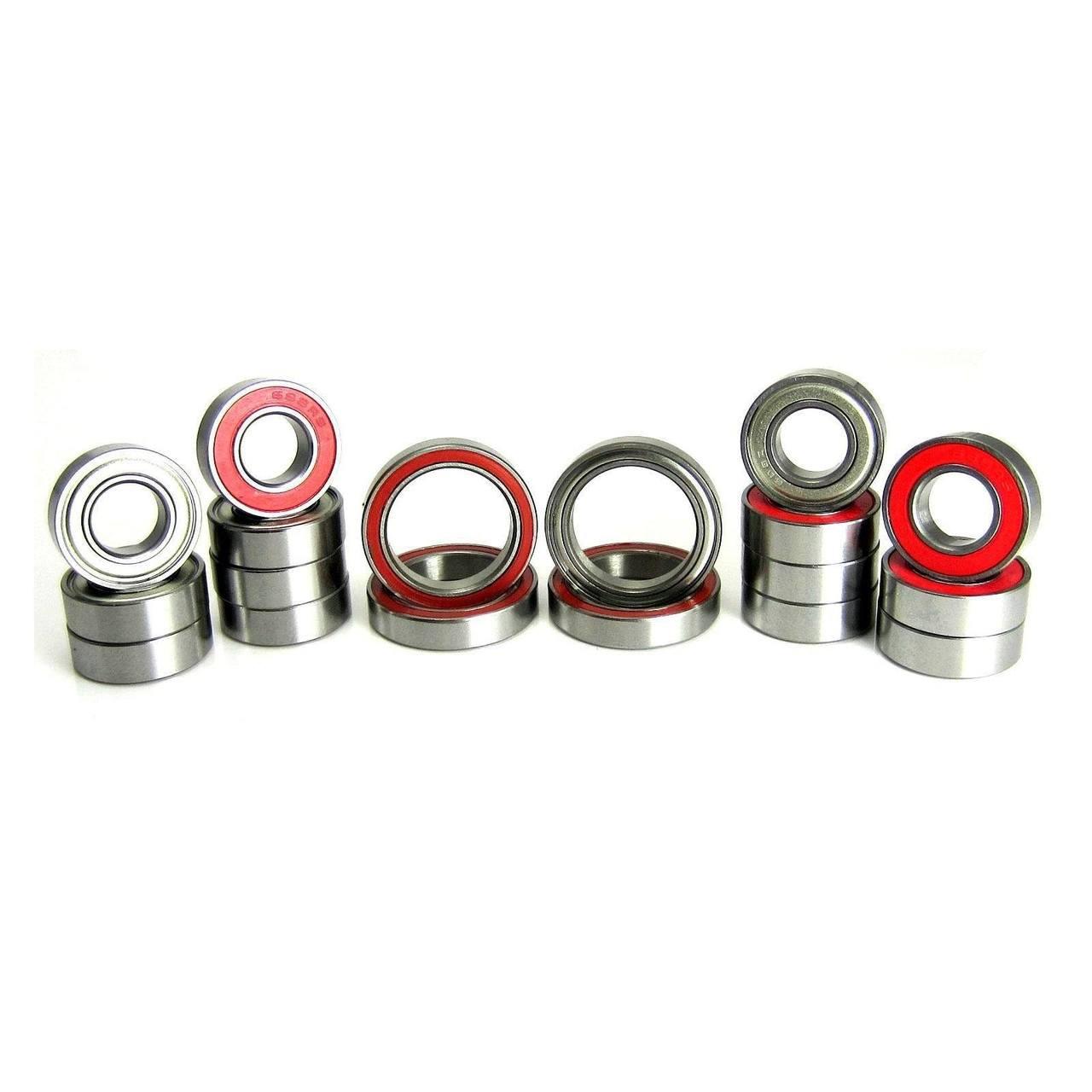 TRB RC Precision Ball Bearing Kit (18) Hybrid Seals Red SaberTooth 1/8 Truggy
