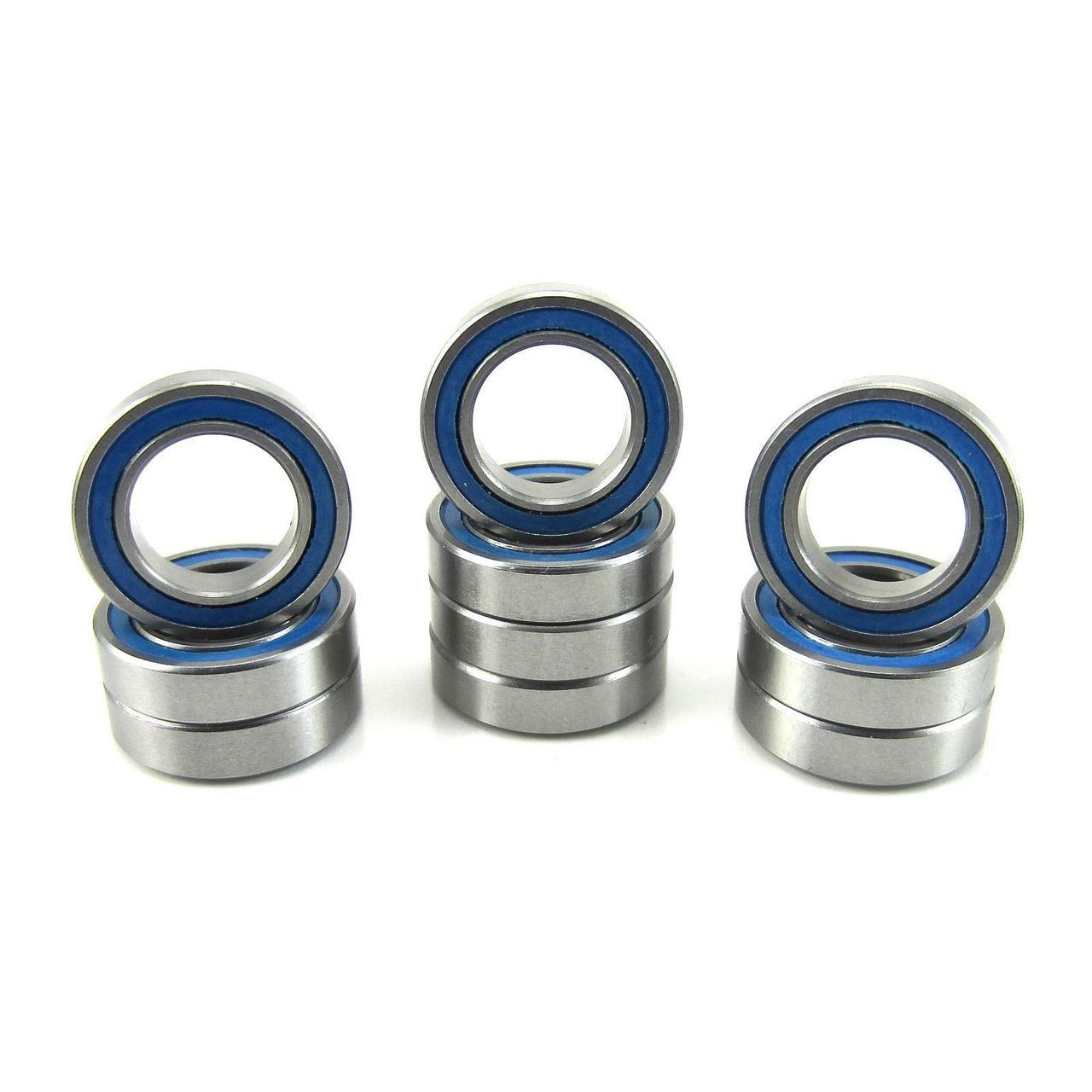 TRB RC 3/8x5/8x5/32 Precision Ball Bearings ABEC 3 BLU Rubber Sealed (10)