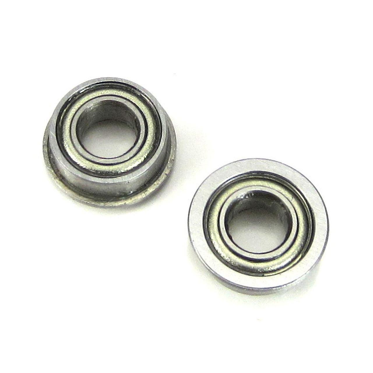 TRB RC 4x8x3mm Flanged Precision Ball Bearings Metal Shields (2)
